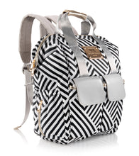 Designer  Baby  Diaper  Bag  Backpack  by  MB  Krauss  |  Matching  Changing  Mat  Clutch  &  Insulated  Bottle  Holder  |  Large  Diapering  Tote  with  Stroller  Straps  |  Baby  Shower  Gift  Idea  for  Women/  Mom  (GEO)
