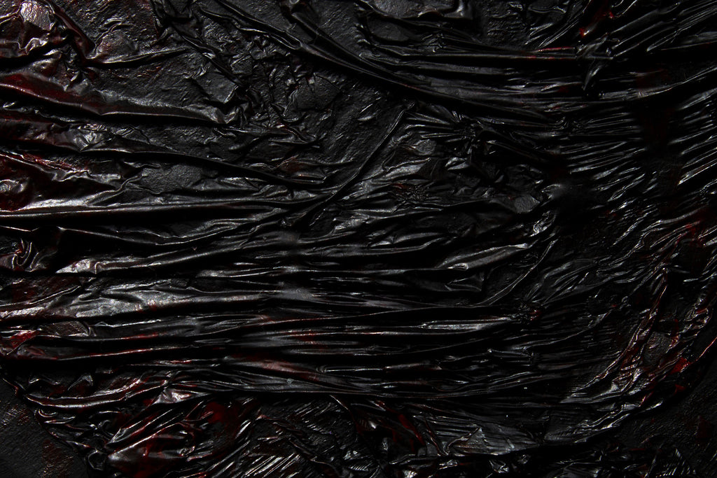 Close-up of black obsidian