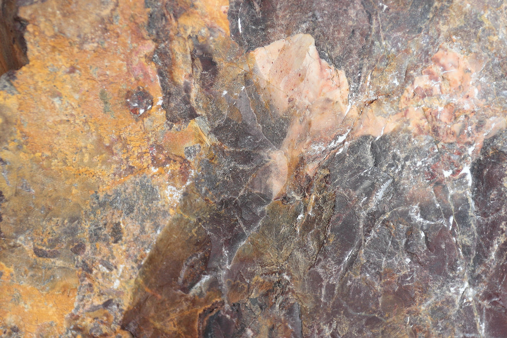 Close up on the texture of a picture jasper stone