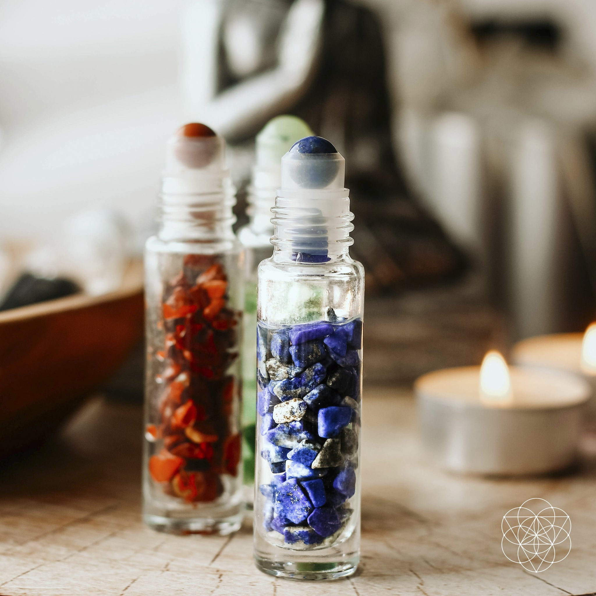 Crystal Energies - Essential Oil Roller Bottle Set