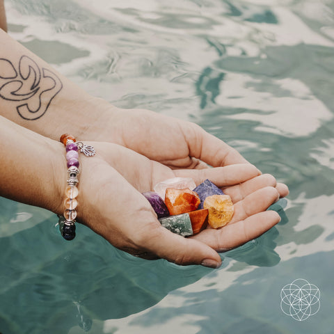 The Immunity Booster Bracelet and Stones Set