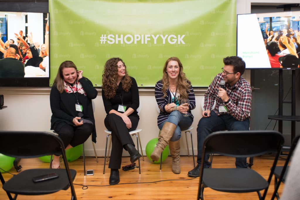 Panel at our First Kingston Shopify Meetup