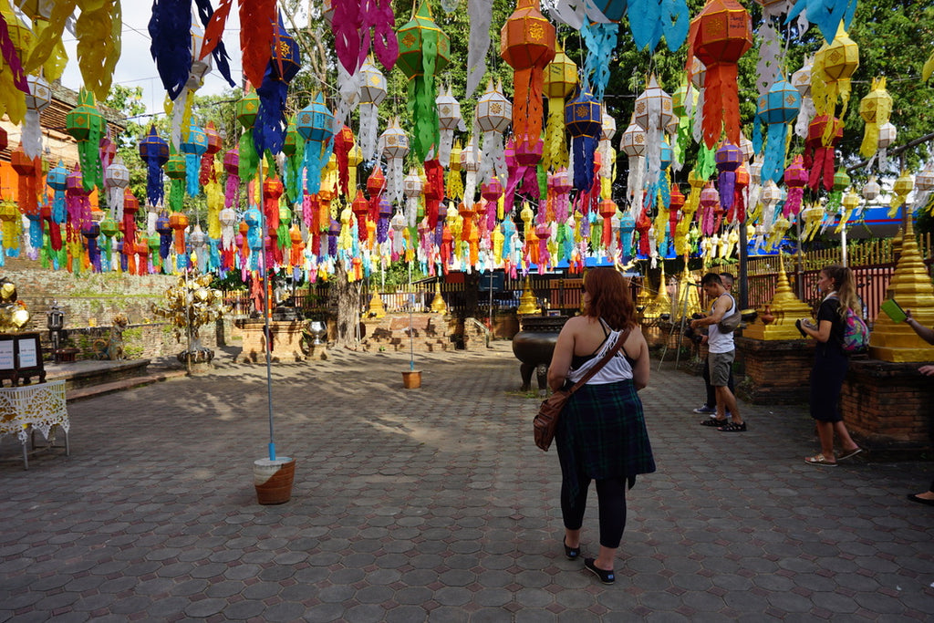BentoSMB staff member exploring temple in Chiang Mai, Thailand.