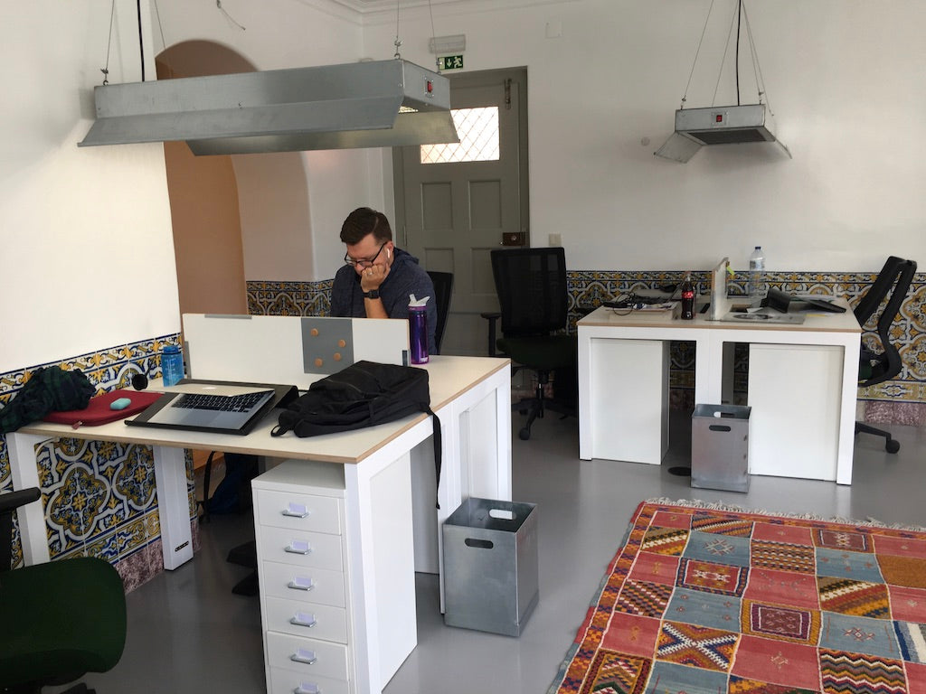 BentoSMB staff member working from co-working space in Sintra, Portugal.