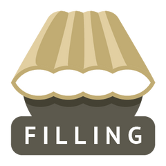 Padded hammock filling icon