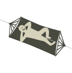 Spreader Bar Hammock Lying Position