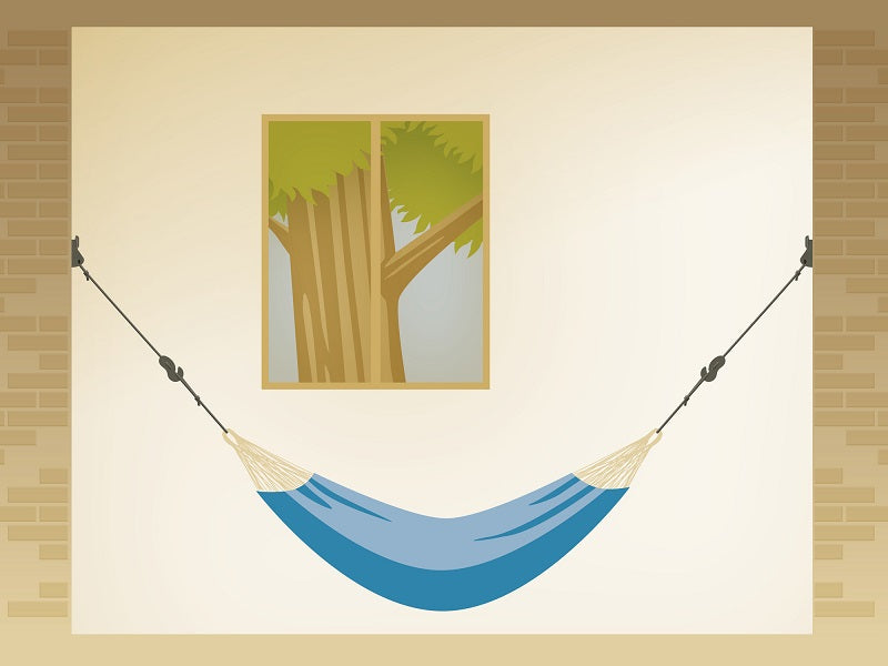 How to hang a hammock from a wall