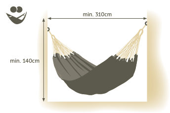 Double size hammock space requirements