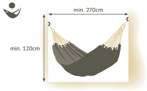 single size hammock space requirements