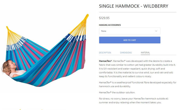 Hammock Material Section