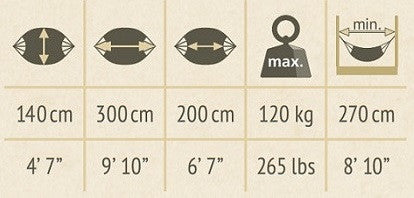 single size hammock dimensions