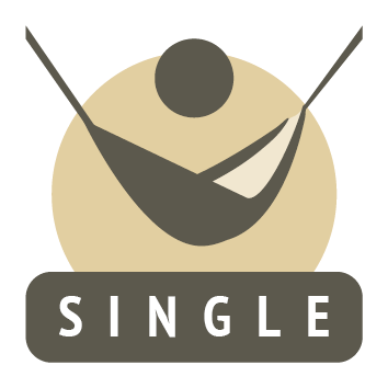 single travel hammock icon