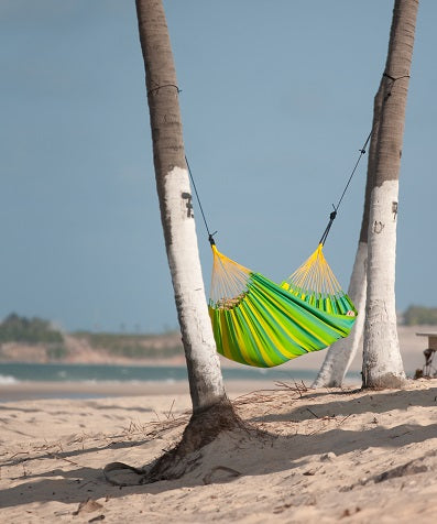 Hanging a hammock from trees