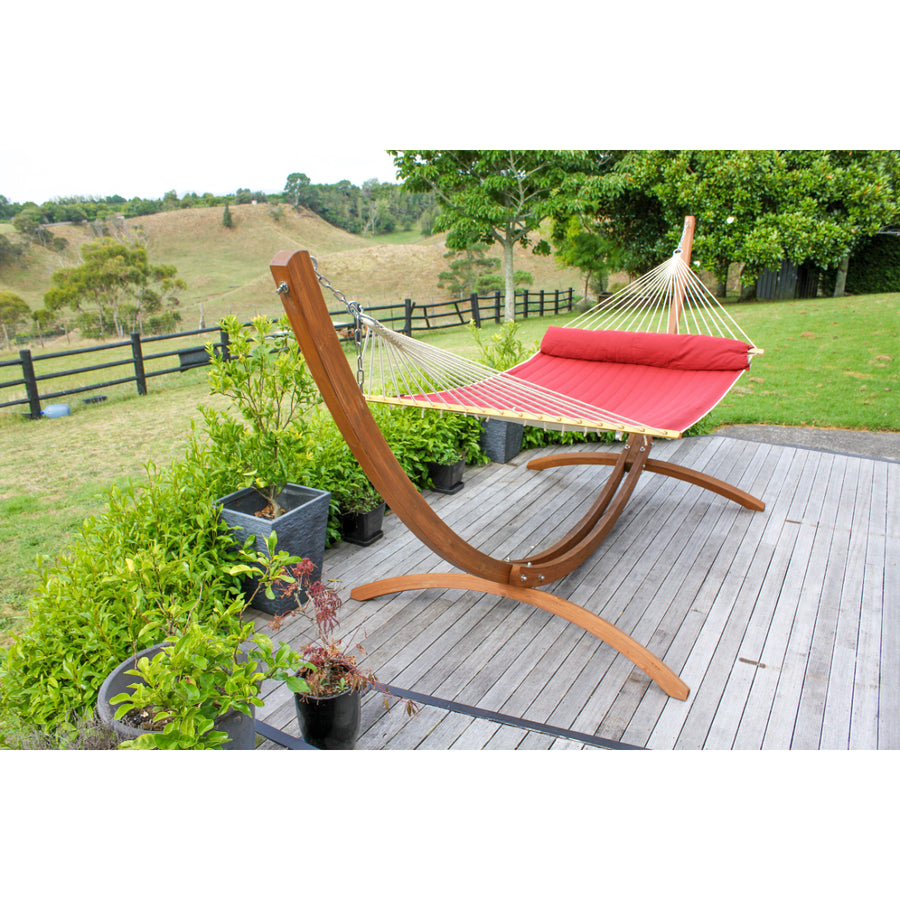 Wooden Hammock Stand - Curved Design