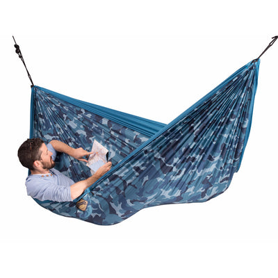double travel blue camouflage hammock