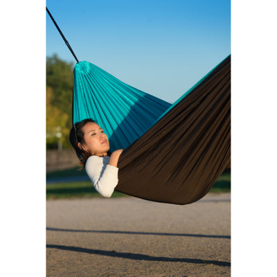Polyester filled travel hammock