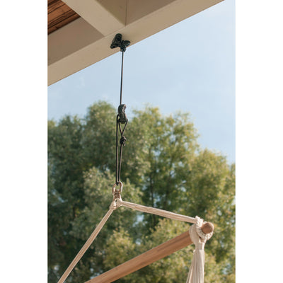 Hanging hammock from overhead fixture kit