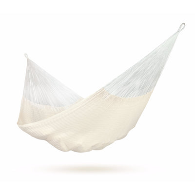 Mexican white cotton hammock