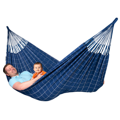 Two Person Blue and White Hammock