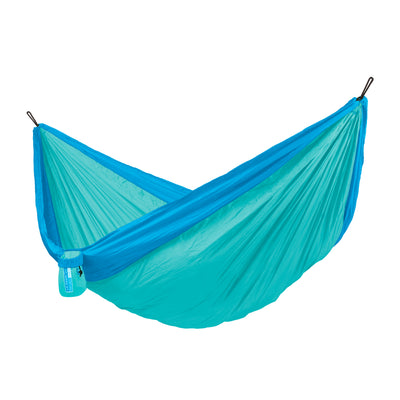 La Siesta travel hammock in turquoise blue