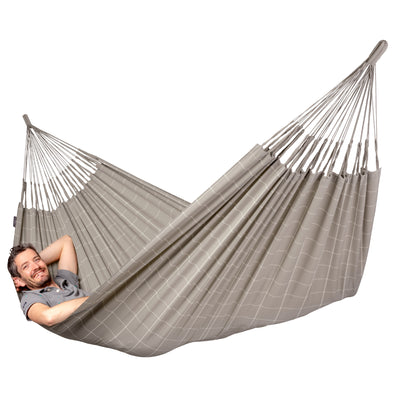 Double Size Hammock - Weather-resistant material in beige and cream