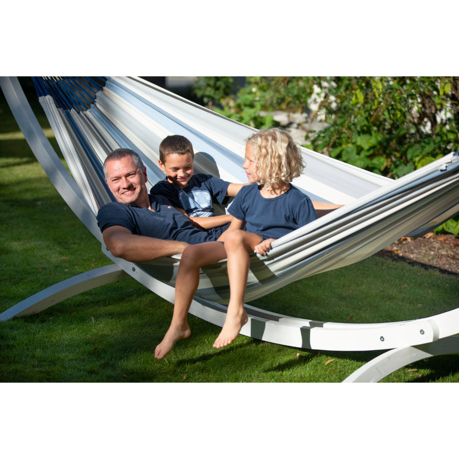 Blue and White Family Hammock