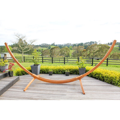 Curved Wooden Freestanding Hammock