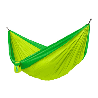 La Siesta double travel hammock in palm green