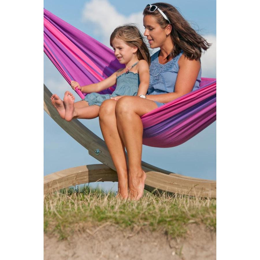 Single Cotton Hammock - Purple