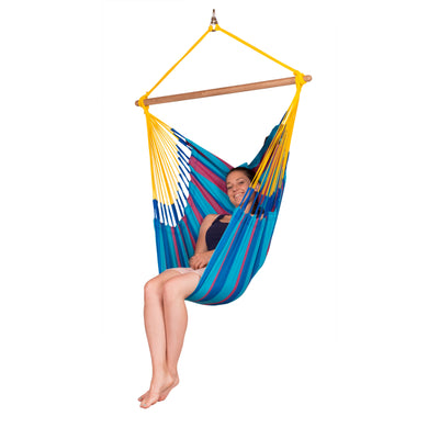Single size chair hammock in wildberry