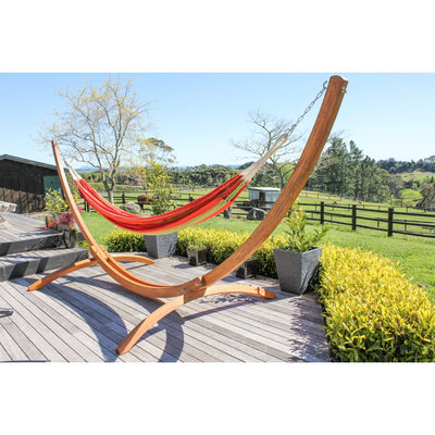 Cotton Hammock - Wooden Hammock Stand