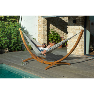Wooden Hammock Stand and Double Almond hammock