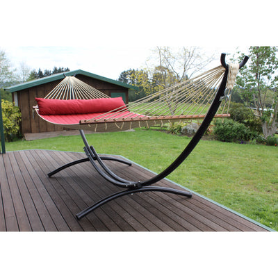 arc shaped black hammock stand