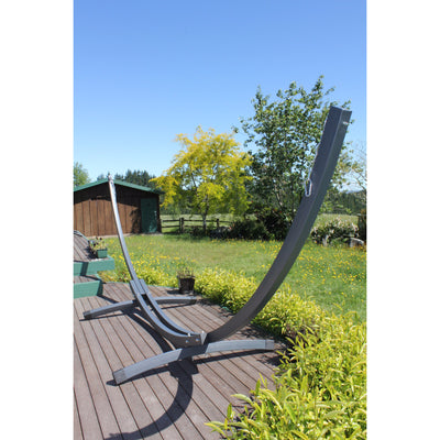 modern arc shaped hammock frame