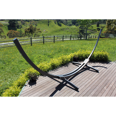 modern arc shaped free standing hammock