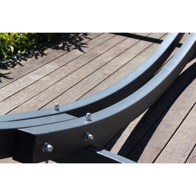 hammock stand in grey