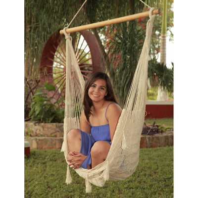 Mexican cotton chair hammock