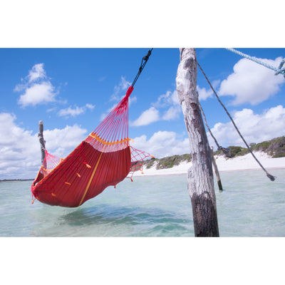 Roja Red Brazilian Organic Cotton Hammock