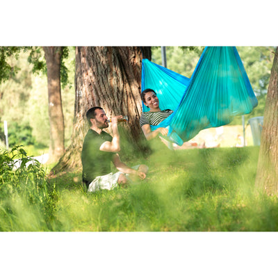 Double size parachute silk travel hammock