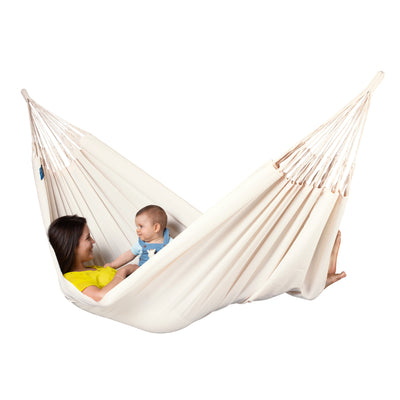 Colombian Made White Family Hammock