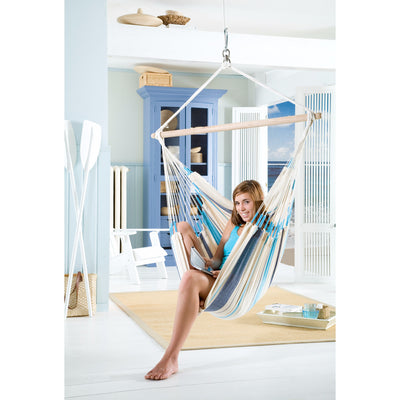 beach inspired bedroom with hammock