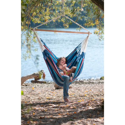 cotton blue hammock chair