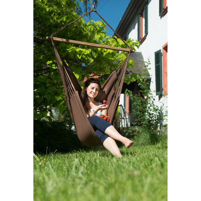 Arabica dark coloured cotton hammock chair