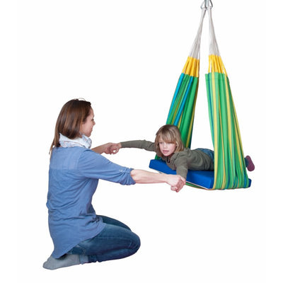 hammock being used for children's therapy