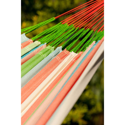 coral colour inspired hammock strip pattern