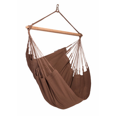 organic cotton chair hammock in brown