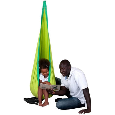 Green hanging hammock nest chair