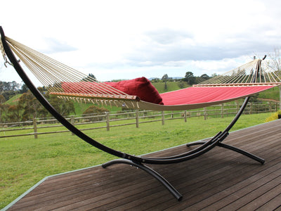 Hammock Stand and Red Hammock