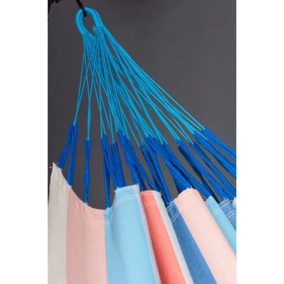 Colourful strip weather resistant hammock