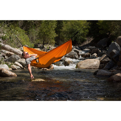 hammock hanging over water